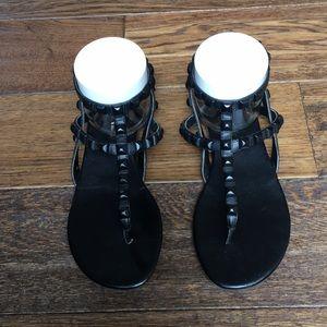 BCBGeneration black studded sandals